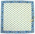ヴァルドローム VALDROME キルトクッションカバー40×40cmサイズ(Manadeマナード・ホワイト×ブルー) 【フランス製】 VAL_HOU_06