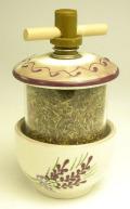 陶製ハーブミル(ラベンダー) MLN_PTR_HRB1