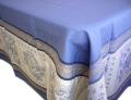 プロヴァンステーブルクロスジャガード織りテフロン撥水加工(モノグラム・ブルー)全5サイズ【フランス】 NAP_25_272e