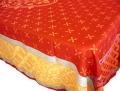 プロヴァンステーブルクロスジャガード織りテフロン撥水加工(Reillanne・レッド)160×250cmサイズ【フランス】 NAP_25_322e