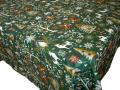 クリスマスプリントテーブルクロス撥水加工(Laponie ラップランド・グリーン) 全4サイズ 【フランス】 NAP_25_344e