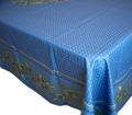 プロヴァンステーブルクロス撥水加工(ニヨン・ブルー)全4サイズ【フランス】 NAP_25_355e_BL
