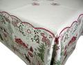 正方形テーブルクロス:フトップクロスジャガード織りテーブルクロス140×140cmサイズ(NEUCHATEL)【フランス】ノルディック柄 NAP_C60