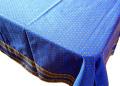 プロヴァンステーブルクロスコットンカドレ(ルールマラン・ブルー×イエロー)150×250cmサイズ【フランス】 NAP_25_61