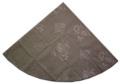 ラウンド・円形テーブルクロス丸テーブル円卓用直径200cmサイズ(ジャガード織りひまわり、抽象柄・グレー)【フランス】NAP_R154::他サイズお取り寄せ可能