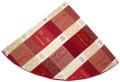 ラウンド・円形テーブルクロス丸テーブル円卓用ジャガード織りテフロン撥水加工直径180cmサイズ(ワインラベル/ソムリエ・オフホワイト×ボルドー)【フランス】NAP_R155e