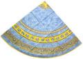 ラウンド・円形テーブルクロス撥水加工丸テーブル円卓用直径180cmサイズ Marat d'Avignon マラダヴィニョン(トラディション・ブルー)【フランス】NAP_R164e