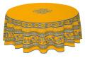 ラウンド・円形テーブルクロス撥水加工丸テーブル円卓用直径180cmサイズ Marat d'Avignon マラダヴィニョン(アヴィニョン・イエロー)【フランス】NAP_R203e