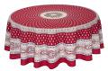 ラウンド・円形テーブルクロス撥水加工丸テーブル円卓用直径180cmサイズ Marat d'Avignon マラダヴィニョン(バスティード・ボルドー)【フランス】NAP_R226e