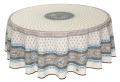 ラウンド・円形テーブルクロス撥水加工丸テーブル円卓用直径180cmサイズ Marat d'Avignon マラダヴィニョン(バスティード・ターコイズ)【フランス】NAP_R227e