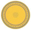 ラウンド・円形テーブルクロス撥水加工丸テーブル円卓用直径180cmサイズ (Beaucaire ボーケール・イエロー×ブルー)【フランス】NAP_R251e