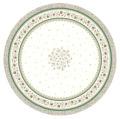 ラウンド・円形テーブルクロス撥水加工丸テーブル円卓用直径180cmサイズ (Beaucaire ボーケール・オフホワイト×グリーン)【フランス】NAP_R252e