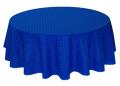 ラウンド・円形テーブルクロス撥水加工丸テーブル円卓用直径180cmサイズ(カリソン・ブルー)【フランス】NAP_R260e