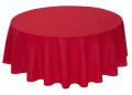ラウンド・円形テーブルクロス撥水加工丸テーブル円卓用直径180cmサイズ(カリソン・ボルドー)【フランス】NAP_R261e