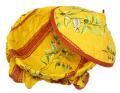 フタ付きブレッドバスケット、パンかご(セミ&オリーブ・オレンジ×レッド) PAN_C27