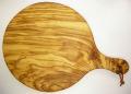 ピザ用オリーブの木のまな板円形、丸、ラウンドオリーブウッドカッティングボード Dモデル【無垢一枚板イタリア製】 PLC_D39