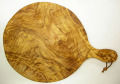 ピザ用オリーブの木のまな板円形、丸、ラウンドオリーブウッドカッティングボード Dモデル【無垢一枚板イタリア製】 PLC_D47