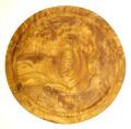 肉用溝つきオリーブの木のまな板、円形ラウンド丸いまな板カッティングボード直径24cmサイズ【無垢一枚板イタリア製】オリーブウッド木製PLC_VD13