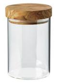 オリーブ木とガラスのキャニスター 600ml PT_OVR_01