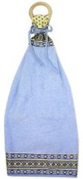 木製リングハンドタオル(ルールマラン・ホワイト×ブルー)SER_25