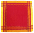 ジャカード織りテーブルナプキン(ラベンダー・ボルドー~イエロー)SER_P33【フランス】