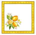 プロヴァンス テーブルナプキン(レモン&小花・ホワイト)SER_P67【フランス】