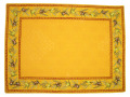 ジャガード織りティーマットデラックス(オリーブ2005・イエロー)【フランス】SET_JQ13