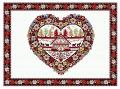 先染めジャガード織りプレイスマットリバーシブル(PLAGNE プラーニュ・ホワイト)【フランス】 ノルディック柄 SET_LX48