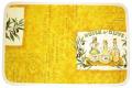 プロヴァンスキルティングランチョンマット:ランチマット:プレイスマット:テーブルマット(オリーブレボー・マスタードイエロー)SET_T49【フランス】