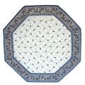 8角形オクトゴナルフレームテーブルマット38×38cmサイズ(ファイアンス・オフホワイト×グレー) 【フランス】TP_OCT15::他サイズお取り寄せ可能