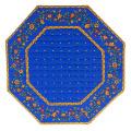 8角形オクトゴナルフレームテーブルマット38×38cmサイズ(カリソン&小花・ブルー) 【フランス】TP_OCT18::他サイズお取り寄せ可能