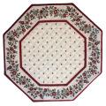8角形オクトゴナルフレームテーブルマット38×38cmサイズ(カリソン&小花・ホワイト×ボルドー) 【フランス】TP_OCT19::他サイズお取り寄せ可能