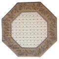 8角形オクトゴナルフレームテーブルマット38×38cmサイズ(カリソン&小花・オフホワイト×ナチュラル) 【フランス】TP_OCT20::他サイズお取り寄せ可能