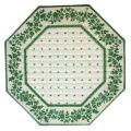 8角形オクトゴナルフレームテーブルマット38×38cmサイズ(カリソン&小花・オフホワイト×グリーン) 【フランス】TP_OCT21::他サイズお取り寄せ可能