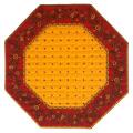 8角形オクトゴナルフレームテーブルマット38×38cmサイズ(カリソン&小花・イエロー×レッド) 【フランス】TP_OCT24::他サイズお取り寄せ可能