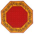 8角形オクトゴナルフレームテーブルマット38×38cmサイズ(カリソン&小花・レッド×イエロー) 【フランス】TP_OCT26::他サイズお取り寄せ可能