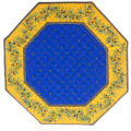 8角形オクトゴナルフレームテーブルマット38×38cmサイズ(カリソン&オリーブ・ブルー×イエロー) 【フランス】TP_OCT29::他サイズお取り寄せ可能
