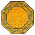 8角形オクトゴナルフレームテーブルマット38×38cmサイズ(カリソン&オリーブ・イエロー×イエローブルー) 【フランス】TP_OCT31::他サイズお取り寄せ可能