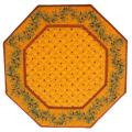 8角形オクトゴナルフレームテーブルマット38×38cmサイズ(カリソン&オリーブ・イエロー×イエローレッド) 【フランス】TP_OCT32::他サイズお取り寄せ可能