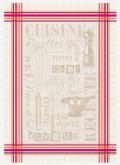 ジャガード織キッチンクロス、ディッシュクロス、ふきん、トーション【フランス】(Cuisine キュイジーヌ)TOR_58
