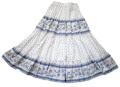 プロヴァンススカート・4段ティアードロングスカート【フランス】(カステラーヌ・ホワイト×ブルー) JP_29