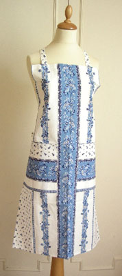 エプロンMarat d'Avignon マラダビニョン(トラディション・ホワイト×ブルー)【フランス製】 TAB_MR12