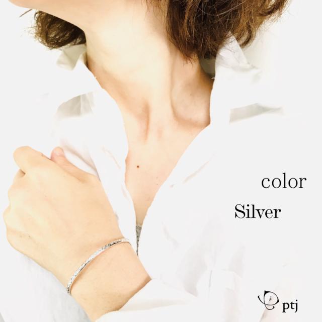 silver950 クラッシュ バングル   刻印無料 単品価格 [メール便可]