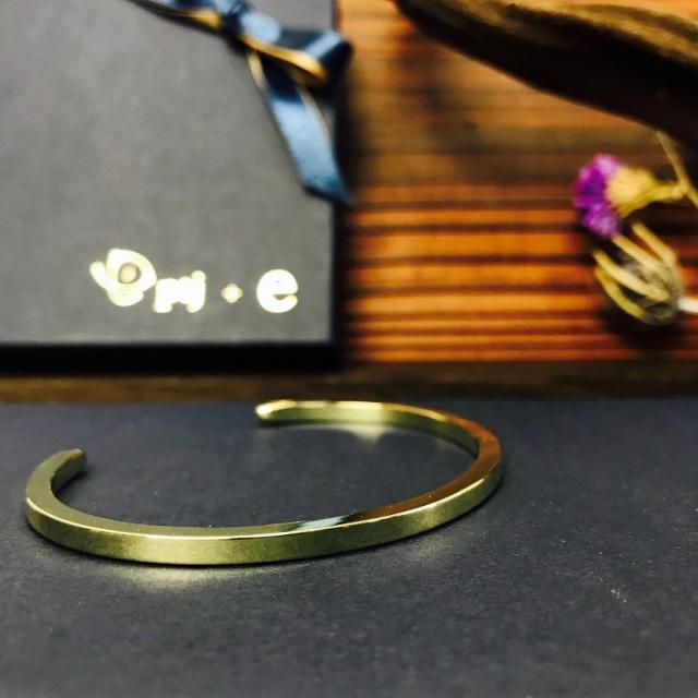 バングル 刻印無料 真鍮 brass mf bangle  (ブラス mfバングル )  [メール便可]