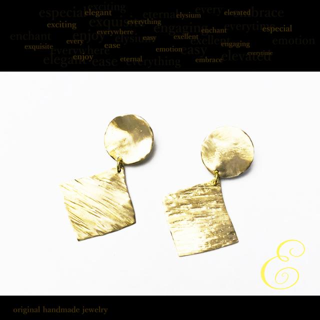 ピアス brass×brass E-pi-0017