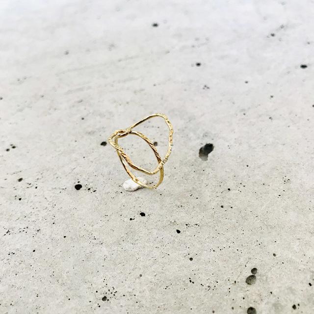 一点物 真鍮 デザイン ring  0002 メール便可