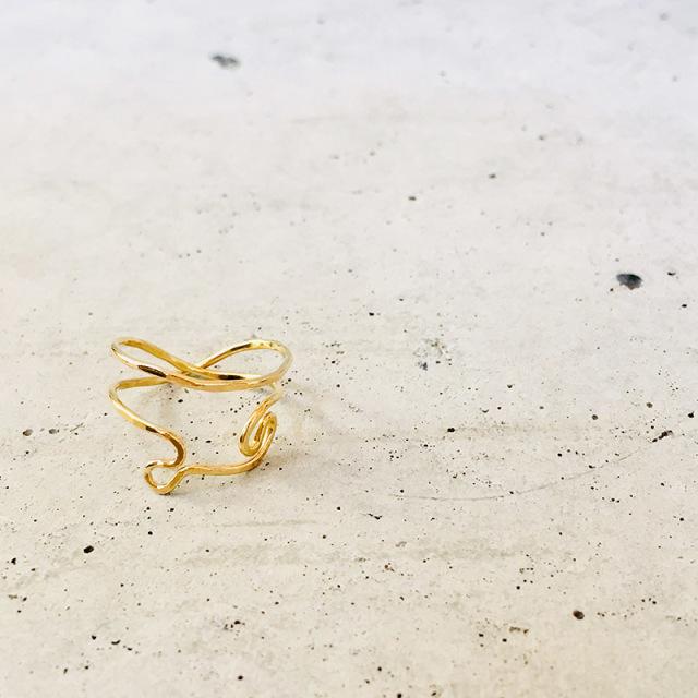 一点物 真鍮 デザイン ring  0008 メール便可