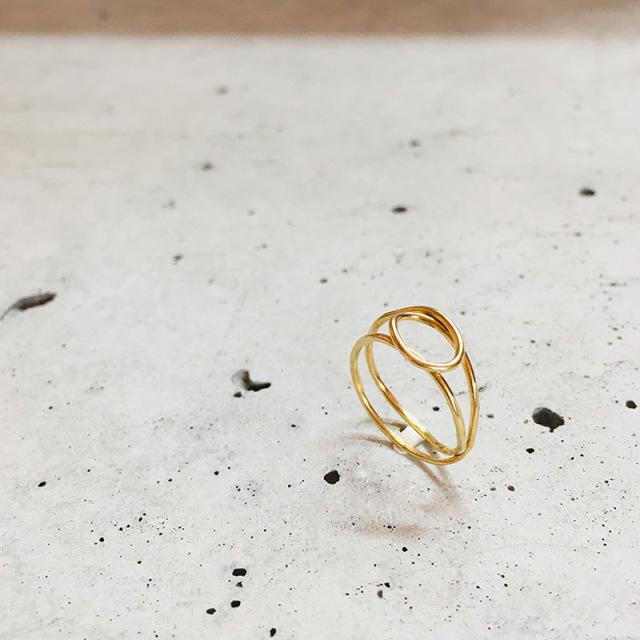一点物 真鍮 デザイン ring  0009 メール便可