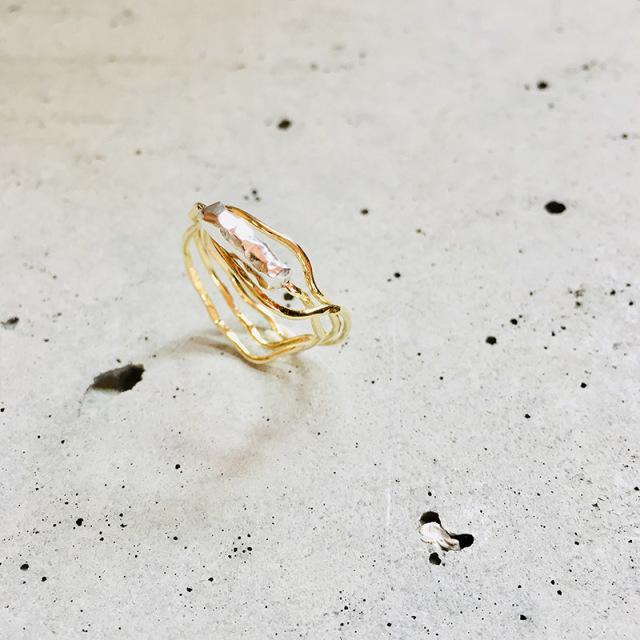 一点物 真鍮 x silver950 デザイン ring  0012 メール便可