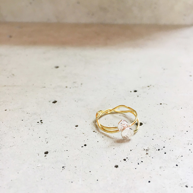 一点物 真鍮 x silver950 デザイン ring  0013 メール便可